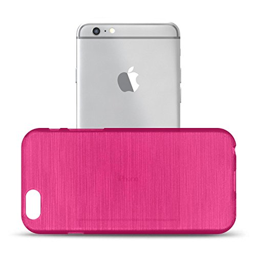 iPhone 6S, 6 Silikon Hülle, Conie Mobile Brushed Case Schlanke Schutzhülle TPU Handyhülle Backcover Rückschale in Weiss Pink
