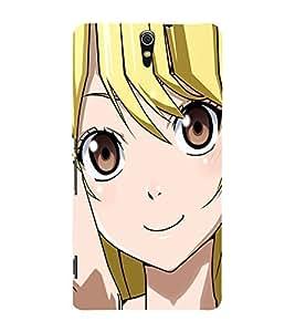 Cute Girl 3D Hard Polycarbonate Designer Back Case Cover for Sony Xperia C5 Ultra Dual :: Sony Xperia C5 E5533 E5563