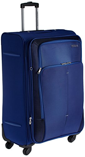 American Tourister Crete Polyester 770 mm Ink Blue Softsided Check-in Luggage (49W (0) 01 003)