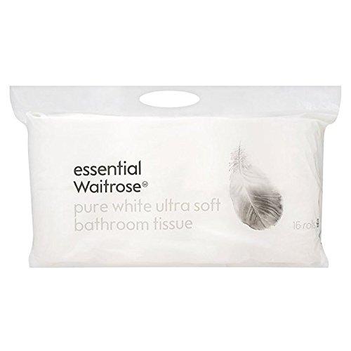 Ultra Weich Reines Weißes Toilettenpapier Wesentlich Waitrose 16 Pro Packung (Packung mit 6)