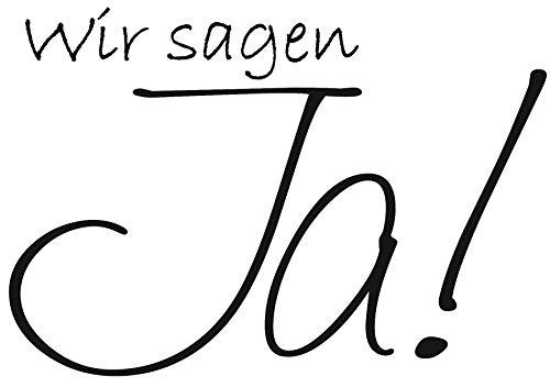 Knorr Prandell 211800007 Knorr prandell 211800007 Stempel aus Holz (Hochzeit) Motivgröße 6,4 x 4,5 cm, Motiv: Wir sagen JA.
