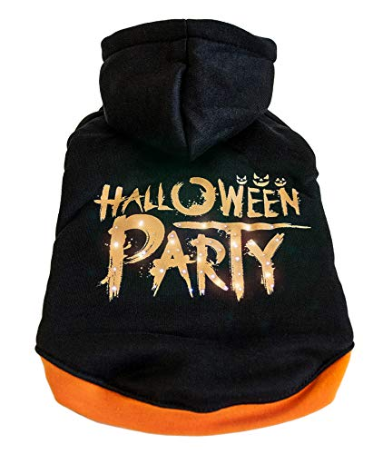 Pet Life LED Lighting Halloween Party Hooded Sweater -