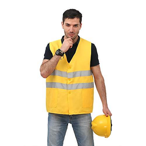 Preisvergleich Produktbild Warnweste für Herren Reflektierende Weste - High Visibility Sicherheitsausrüstung für Laufen Walking Jogging Radfahren Sicherheitsweste Outdoor Arbeitsweste