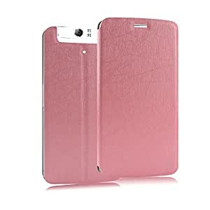 Heartly Premium Luxury PU Leather Flip Stand Back Case Cover For OPPO N1 Mini - Pink