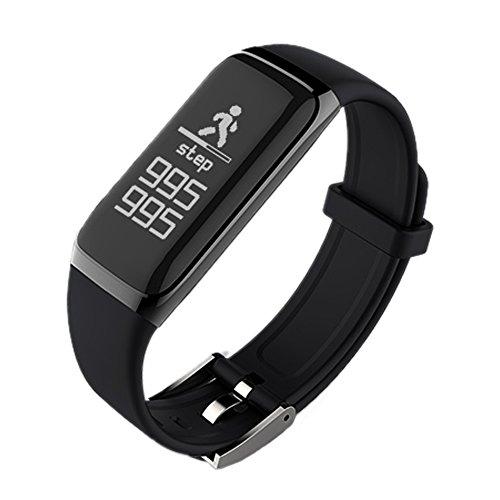 Pulsera de actividad Fitness Tracker, focipow corazón tasa sangre & presión & Monitor de...