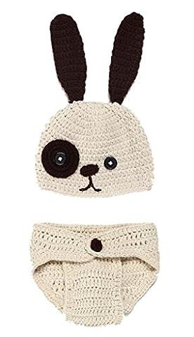Bigood Déguisement Bébé Garçon Costume Crochet Animaux Photographie Outil Lapin