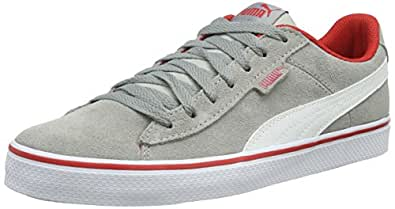Puma 1948 Vulc Jr, Sneaker Children and Teenagers (Gymnastics), Limestone/Bianco/High Risk Red, 5.5 EU