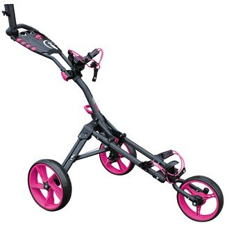 Cart Buggy Cover (iCart one Compact 3 Wheel One Click Push Trolley Farbe grau/pink)