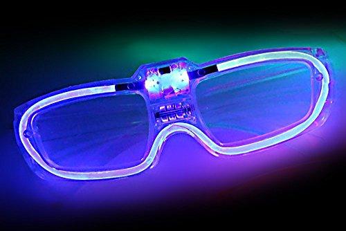 Ucult LED-Brille mit Soundsensor für Partypeople (Blau)