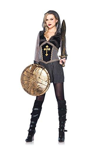 Leg Avenue 85202 - Kostüm Joan of Arc, Größe L, schwarz/silber (Nicht Den Typischen Halloween Kostüme)