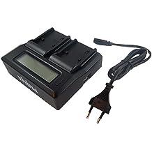 Cargador USB dual vhbw 220V para Leica V-Lux 4, V-Lux Typ 114