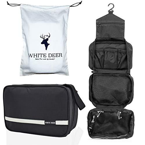 Beauty case da viaggio, borsa da viaggio cosmetica, removable kit da viaggio di grande capacità, uomini e donne per i viaggi all'aperto (nero)