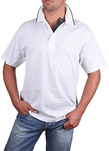ferre-polo-pour-homme-a-manches-courtes-blanc-taille-l