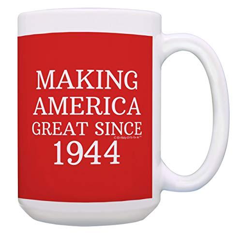 So Amerika Großartiges seit 194375. Geburtstag Geschenk Kaffee Becher Tee Tasse 15 oz Red (75. Party-ideen Geburtstag Mama Für)