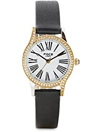 FOCE Analogue White Dial Women's Premium Crystal Studded Watch - [FA17TGL-WHITE]