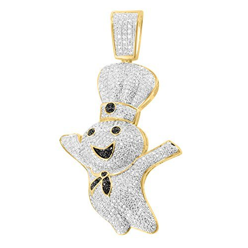 14k-gold-finish-unique-pillsbury-chef-iced-out-black-lab-diamond-classy-pendant-by-master-of-bling