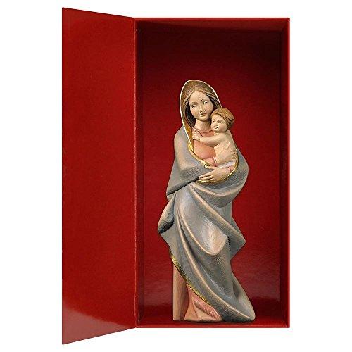 Design Echtholz Madonna Modern + Geschenkbox, Heiligenfigur, 10cm, Color