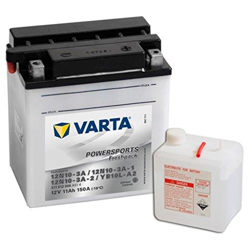 Batteria Moto Varta 12V 11Ah 150A POWERSPORTS FRESHPACK YB10L-A2 12N10-3A-2 12N10-A-1 12N10-3A 511012009
