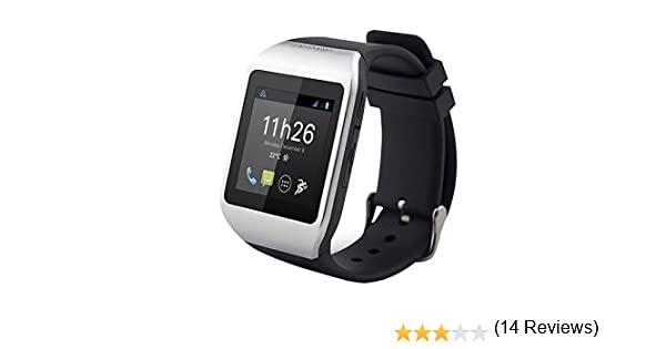 Polaroid PWATCHNOIRSILVER Montre Bluetooth 3.0 pour Smartphone Android Noir/Argent: Amazon.fr: High-tech