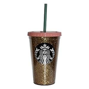 Starbucks Tumbler Becher Holiday Gold Glitzer