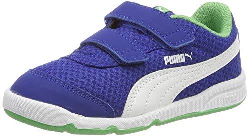 Puma Unisex-Kinder Stepfleex 2 Mesh V Inf Sneaker, Blau (Surf The Web-Irish Green-Puma White), 22 EU - Jungen Puma Schuhe
