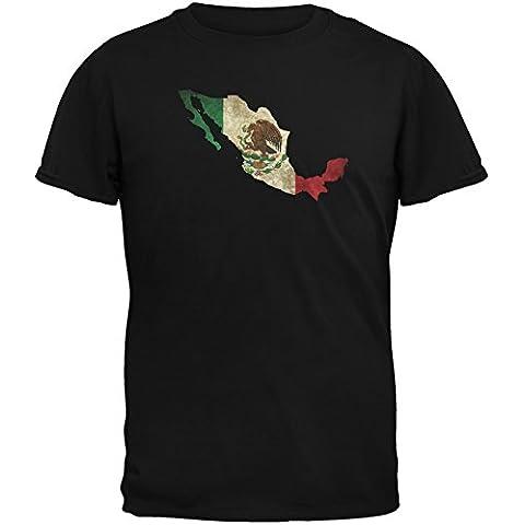 Cinco de Mayo–Mexico silueta negro adulto camiseta