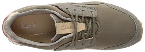 Clarks Floura Mix, Scarpe da Ginnastica Basse Donna Verde (Khaki Combi)