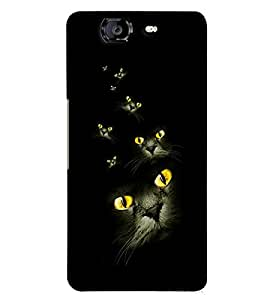 PRINTVISA Cat Eyes Case Cover for Micromax A350 Canvas Knight