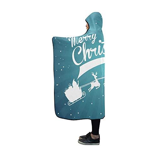 JOCHUAN Mit Kapuze Decke Weihnachten Design über Starry Blanket 60 x 50 Zoll Comfotable Mit Kapuze Wurfverpackung