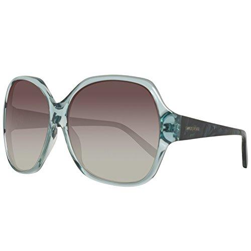 Swarovski sk0015-6184b, occhiali da sole donna, blu (shiny light blue), 61