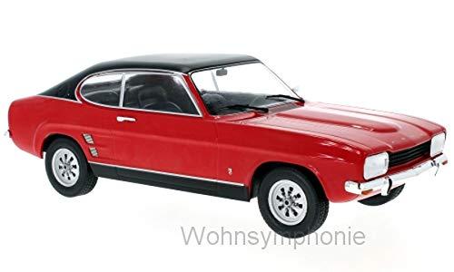 MCG Modellauto 1:18 Ford Capri MKI 1600 GT, rot/schwarz 1973 18083 (1 18 Diecast Ford Gt)