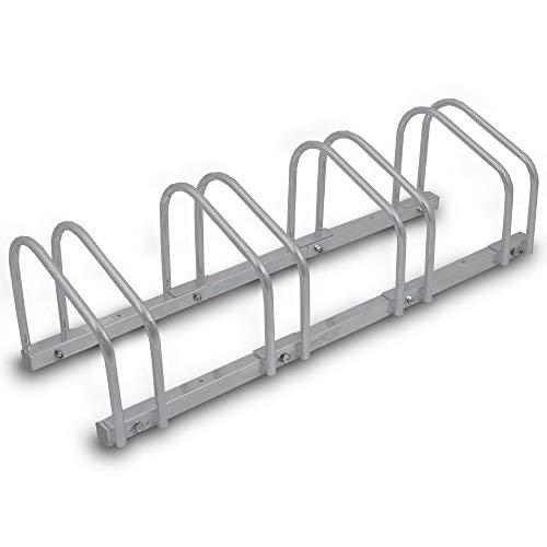 BITUXX® Fahrradständer Aufstellständer Radständer Fahrrad Bike Ständer Metall Platzsparend (Für 4 Fahrräder) -
