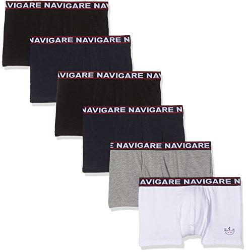Navigare Herren 322 Boxer (Pacco Da 6), Multicolore (Bianco/ Nero/Antracite/ Navi), X-Large