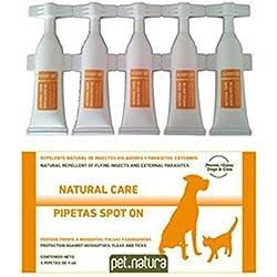 Pipetas Antiinsectos para perros y gatos - 5 pipetas de 0,5 ml.