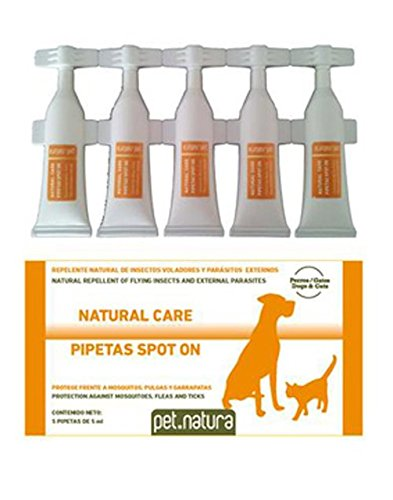 Pipetas Antiinsectos para perros y gatos - 5 pipetas de 0,5 ml.