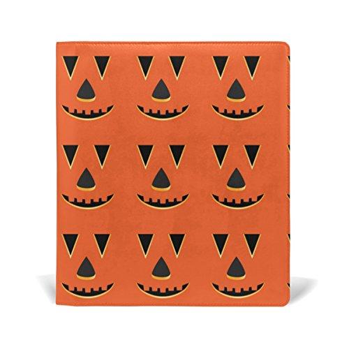 rbis Gesichter Muster Buch-Sox dehnbar, passend für die meisten Hardcover lehrbüchern. bis zu 9X 11. Klebstofffreie, PU-Leder Schule Buch Displayschutzfolie (Kürbis Halloween-gesichter-muster)