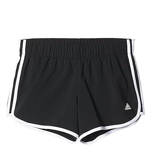 adidas M10 3 Bandes Short Femme Noir FR : M (Taille Fabricant : M 3