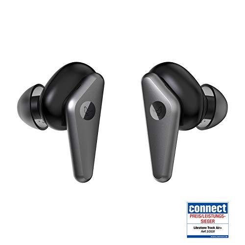 Écouteurs true wireless Libratone TRACK Air+ à réduction de bruit réglables (24h d'autonomie, ANC, résistant à la sueur et aux éclaboussures jusqu'à IPX4, Bluetooth 5.0) - noir