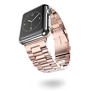 Apple Watch 38mm Band, Infiland Stainless Steel Metal Replacement Strap Wrist Band for Apple Watch & Sport & Edition version 38mm - Rose Gold
