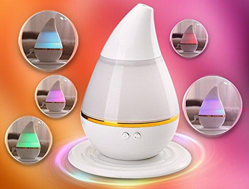 Hivel USB Portable Humidificateur Ultrasonique Huile Essentielle Aroma Diffuseur Aromathrapie Parfum Diffuseur Silent 250ml - Colore