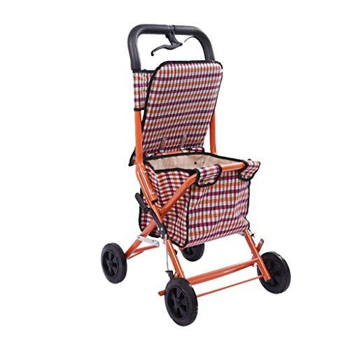 Aluminium 4 Rädern Rollator (SXRNN Walker Rollator Mit Sitz Und 4 Rädern Aus Aluminium Und Mit Bremsen. Praktischer Faltwagen)