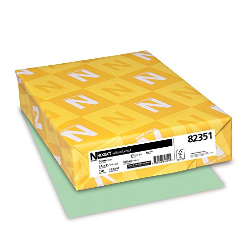 neenah-exact-vellum-bristol-67-lb-85-x-11-inches-250-sheets-green-by-neenah