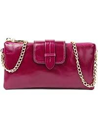 SUIMIUS Genuine Leather Wallet Clutch Coin Purse Zip Wristlet For Women