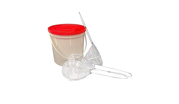 Fishing Bait Bucket with 3 Minnow Bait Fish Nets Challenge Plastics Bait Bucket