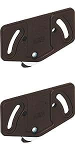2 Stück Laufrollen Schiebetür-Laufwagen Schrank Laufteil Laufschiene unten 15 kg - Modell Slide Line 55 | Kunststoff braun | Möbelbeschläge von GedoTec®