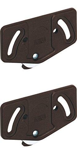 2 Stück Laufrollen Schiebetür-Laufwagen Schrank Laufteil Laufschiene unten 15 kg - Modell Slide Line 55   Kunststoff braun   Möbelbeschläge von GedoTec®