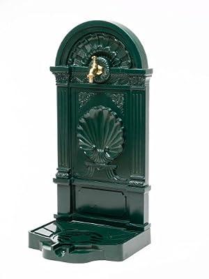 Standbrunnen 83cm Waschbecken Alu Brunnen Waschplatz Wandbrunnen Antikstil GrÜn von aubaho - Du und dein Garten