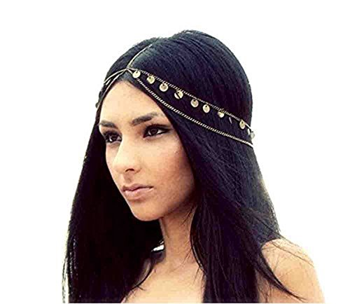 Fulltime(TM) Fashion Head Piece Hair Band Metal Head Chain Jewelry Chain Headband