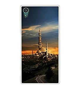 PrintVisa Designer Back Case Cover for Sony Xperia Z5 :: Sony Xperia Z5 Dual 23MP (Ancient Village with Beautiful Sunset)