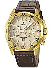 Festina Herren-Armbanduhr Chronograph Quarz Leder F16880/1